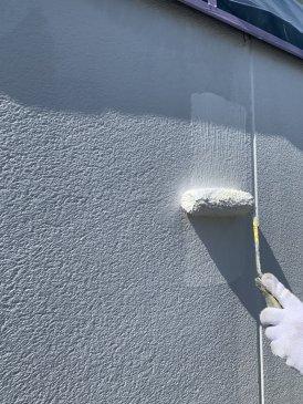 2021/6/9 2F外壁下塗り作業