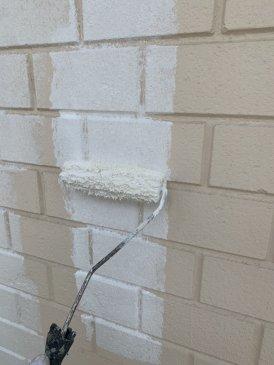 2021/6/10 1F外壁下塗り作業