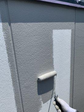 2021/6/10 2F外壁上塗り作業1回目