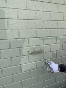 2021/6/11 1F外壁上塗り作業2回目