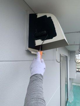2021/6/11 換気フード塗装作業1回目