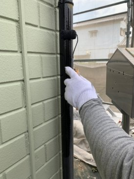 2021/6/12 雨樋塗装作業1回目