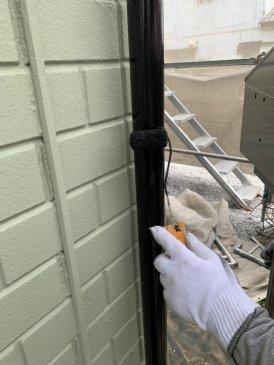 2021/6/12 雨樋塗装作業2回目