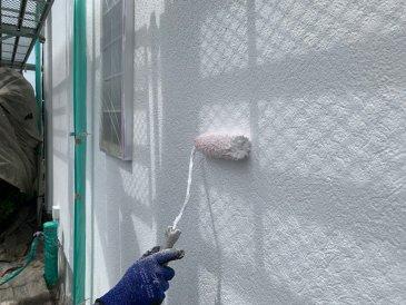 2021/6/21 外壁中塗り作業2回目