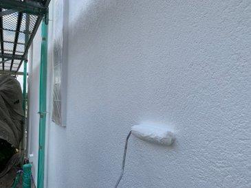 2021/6/21 外壁上塗り作業