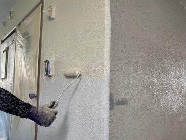 2021/6/29 外壁上塗り作業1回目