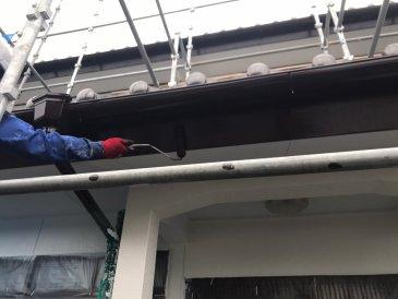 2021/5/15 破風板塗装作業2回目