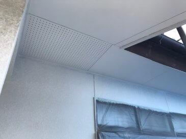 2021/5/14 軒裏天井塗装作業2回目