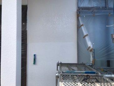 2021/5/14 外壁上塗り作業1回目