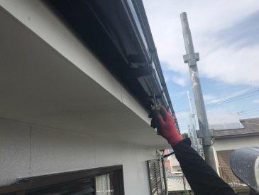 2021/5/23 軒樋塗装作業2回目