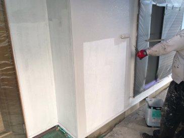 2021/5/20 外壁上塗り作業1回目
