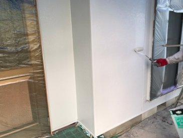 2021/5/20 外壁上塗り作業2回目