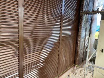 2021/6/5 雨戸塗装作業2回目