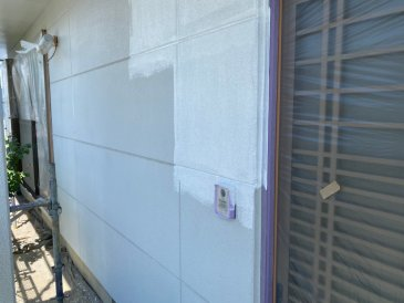 2021/5/25 外壁下塗り作業