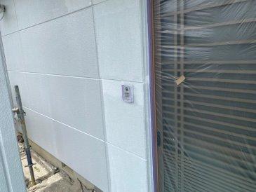 2021/5/28 外壁上塗り作業1回目