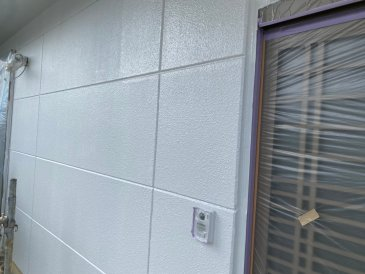 2021/5/29 外壁上塗り作業2回目