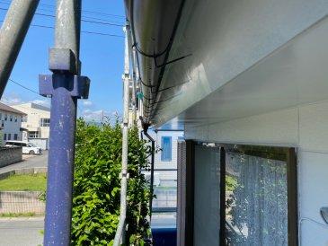 2021/6/1 破風板塗装作業1回目