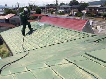 2021/5/26 屋根高圧洗浄