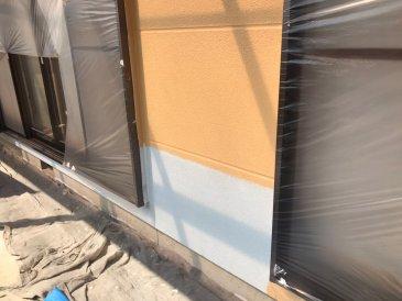 2021/6/7 外壁上塗り作業1回目