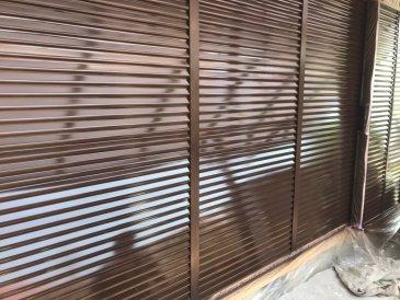 2021/6/10 雨戸塗装作業2回目