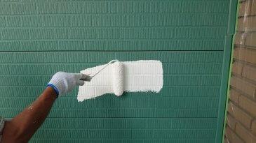 2021/6/21 外壁下塗り作業