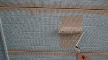 2021/6/22 外壁上塗り作業1回目