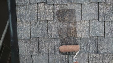 2021/6/22 屋根下塗り作業