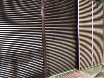 2021/6/22 雨戸塗装作業1回目