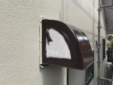 2021/6/25 換気フード塗装作業1回目