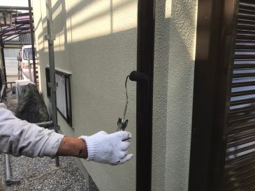 2021/6/23 雨樋塗装作業2回目