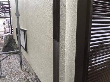 2021/6/23 雨樋塗装作業1回目