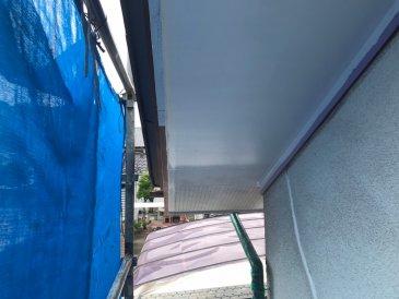 2021/6/16 軒天塗装作業1回目