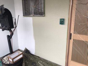 2021/6/18 外壁下塗り作業