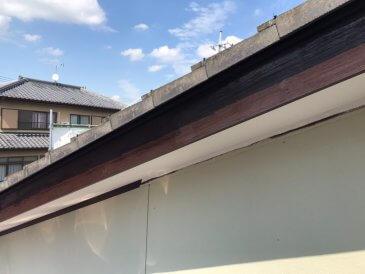 2021/6/21 破風板塗装作業2回目
