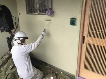2021/6/20 外壁上塗り作業2回目