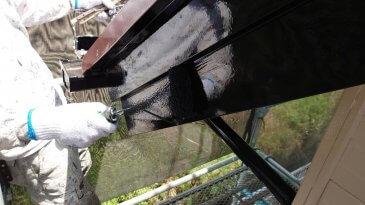 2021/6/25 破風板塗装作業2回目